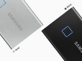 最大転送速度1,050MB/s、指紋認証機能を搭載した「Samsung Portable SSD T7 Touch」を2020年2月下旬より販売 image