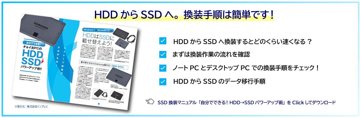 SSD換装マニュアル