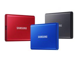 名刺サイズのコンパクトボディに最大転送速度1,050MB/sを実現した「Samsung Portable SSD T7」を2020年6月上旬より販売 image