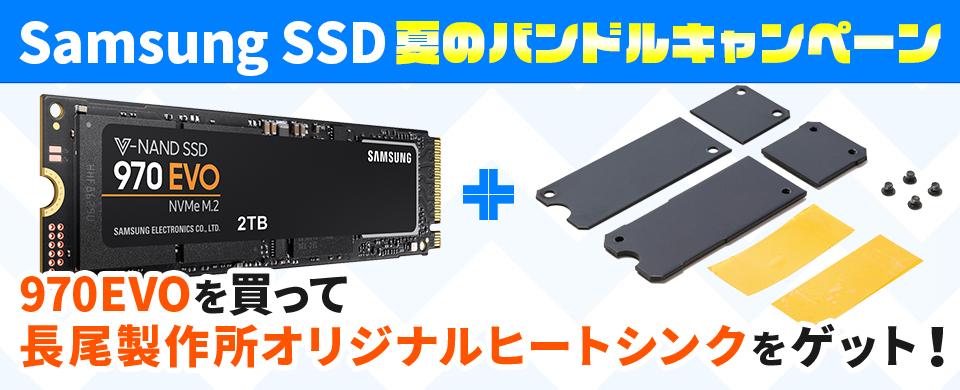 Samsung SSD夏のバンドルキャンペーン 970 EVOを買って長尾製作所オリジナルヒートシンクをゲット!